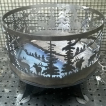 Чаша для костра закат в горах
