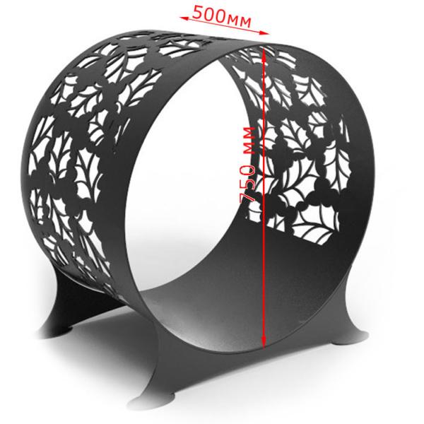 дровница для камина круглая